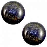 20 mm classic cabochon Polaris Elements Stardust Midnight blue