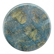 35 mm platte cabochon Polaris Elements Stardust Blue shade