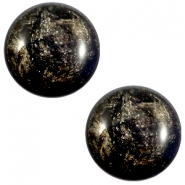 20 mm classic cabochon Polaris Elements Stardust Jet black