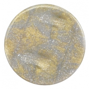 35 mm platte cabochon Polaris Elements Stardust Grey