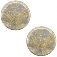 12 mm platte cabochon Polaris Elements Stardust Grey