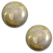 12 mm classic cabochon Polaris Elements Stardust Grey