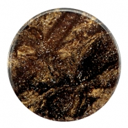 35 mm platte cabochon Polaris Elements Stardust Dark brown