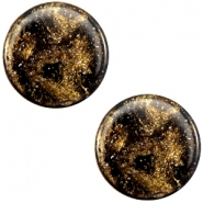 20 mm platte cabochon Polaris Elements Stardust Dark brown