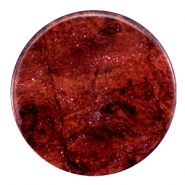 35 mm platte cabochon Polaris Elements Stardust Port royale red
