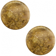 12 mm platte cabochon Polaris Elements Stardust Warm taupe brown