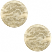 12 mm platte cabochon Polaris Elements Stardust Sand beige