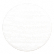 35 mm platte cabochon Polaris Elements Sparkle dust White