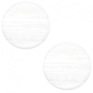 20 mm platte cabochon Polaris Elements Sparkle dust White