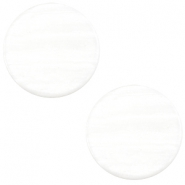 12 mm platte cabochon Polaris Elements Sparkle dust Ivory white