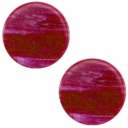 20 mm platte cabochon Polaris Elements Sparkle dust Violet purple