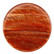 35 mm platte cabochon Polaris Elements Sparkle dust Copper brown
