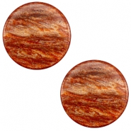 20 mm platte cabochon Polaris Elements Sparkle dust Copper brown