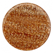 35 mm platte cabochon Polaris Elements Sparkle dust Light chocolate brown
