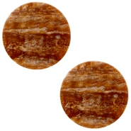 12 mm platte cabochon Polaris Elements Sparkle dust Light chocolate brown