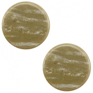 20 mm platte cabochon Polaris Elements Sparkle dust Khaki brown