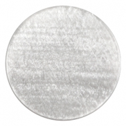 35 mm platte cabochon Polaris Elements Sparkle dust Ice grey