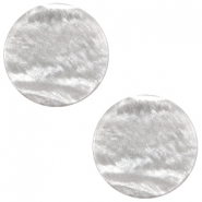 20 mm platte cabochon Polaris Elements Sparkle dust Ice grey