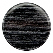 35 mm platte cabochon Polaris Elements Sparkle dust Anthracite black