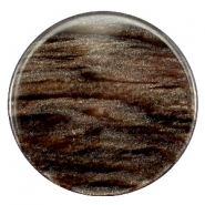 35 mm platte cabochon Polaris Elements Sparkle dust Dark brown