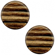 20 mm platte cabochon Polaris Elements Sparkle dust Smoke topaz