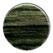 35 mm platte cabochon Polaris Elements Sparkle dust Dark classic green