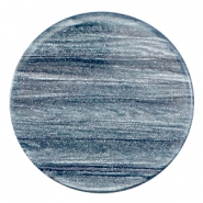 35 mm platte cabochon Polaris Elements Sparkle dust Rustic blue