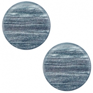 7 mm platte cabochon Polaris Elements Sparkle dust Rustic blue