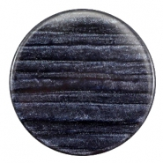 35 mm platte cabochon Polaris Elements Sparkle dust Indigo blue
