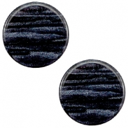 12 mm platte cabochon Polaris Elements Sparkle dust Indigo blue