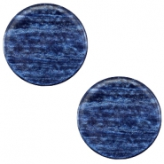 12 mm platte cabochon Polaris Elements Sparkle dust Montana blue