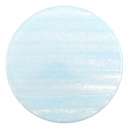 35 mm platte cabochon Polaris Elements Sparkle dust Soft blue