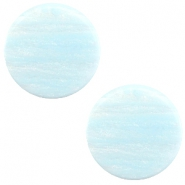 12 mm platte cabochon Polaris Elements Sparkle dust Soft blue