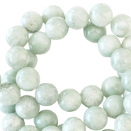 Half edelsteen kralen rond 4mm Light green jade