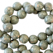 Half edelsteen kralen rond 4mm Phyolite greenish grey