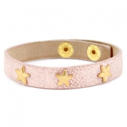 Armbanden reptile met studs gold star Metallic light vintage rose