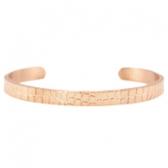 "Roestvrij stalen (RVS) armbanden ""crocodile"" stainless steel Rosegold"