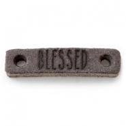 DQ leer tussenstukken BLESSED Dark vintage brown