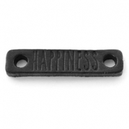 DQ leer tussenstukken HAPPINESS Nero black