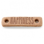 DQ leer tussenstukken HAPPINESS Light cognac brown