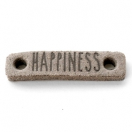 DQ leer tussenstukken HAPPINESS Vintage brown