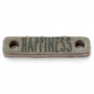 DQ leer tussenstukken HAPPINESS Dark olive green