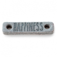 DQ leer tussenstukken HAPPINESS Grey