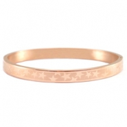 Roestvrij stalen armband (RVS) sterrenmotief stainless steel Rosegold