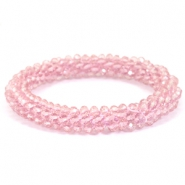 Top facet armband Light orchid pink