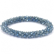 Top facet armband Light montana-blue diamond coating