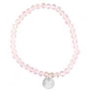 Top facet armbandjes Sisa 6x4mm (RVS bedel) Pink champagne-pearl diamond coating