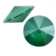 Swarovski 1122 Rivoli 12 mm puntsteen Crystal royal green