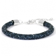 Crystal diamond armbanden 7mm Monatana blue