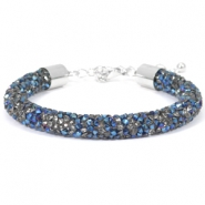 Crystal diamond armbanden 8mm Crystal-metallic blue